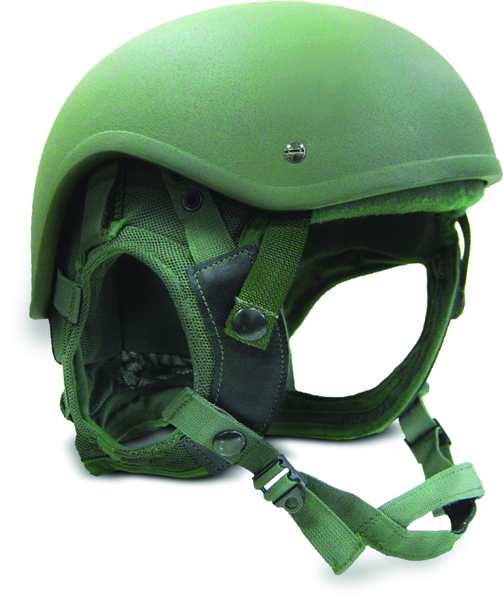 Durable military helmet hearing protection