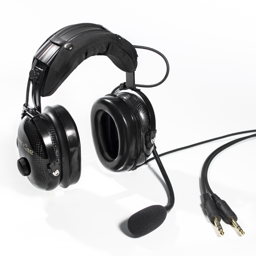 Fixed wing passive noise-cancelling headset