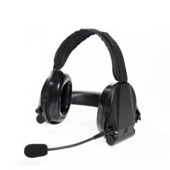 SNR27dB Neckband noise-cancelling headset with hearing protection and talk-through