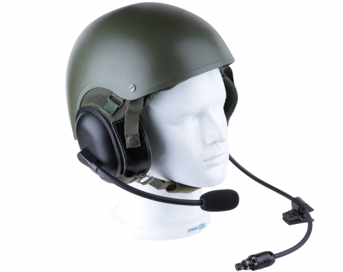 CVC helmet headset with dynamic flexible microphone
