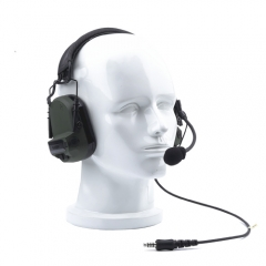 SNR28dB headband noise-cancelling headset with hearing protection and talk-through